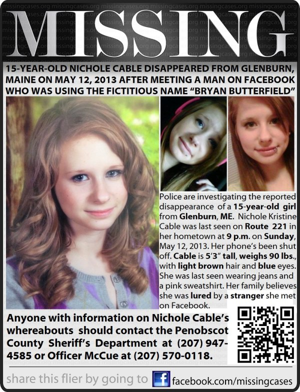 MISSING: Nichole Kristine Cable